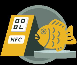 NFC、またはQRコードを設置